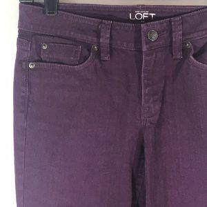LOFT High Waist purple skinny ankle jeans/6P